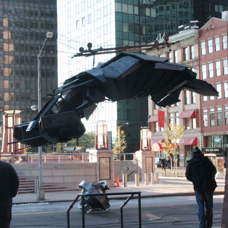 THE DARK KNIGHT RISES (2012) - Batwing Set Photos | The ...