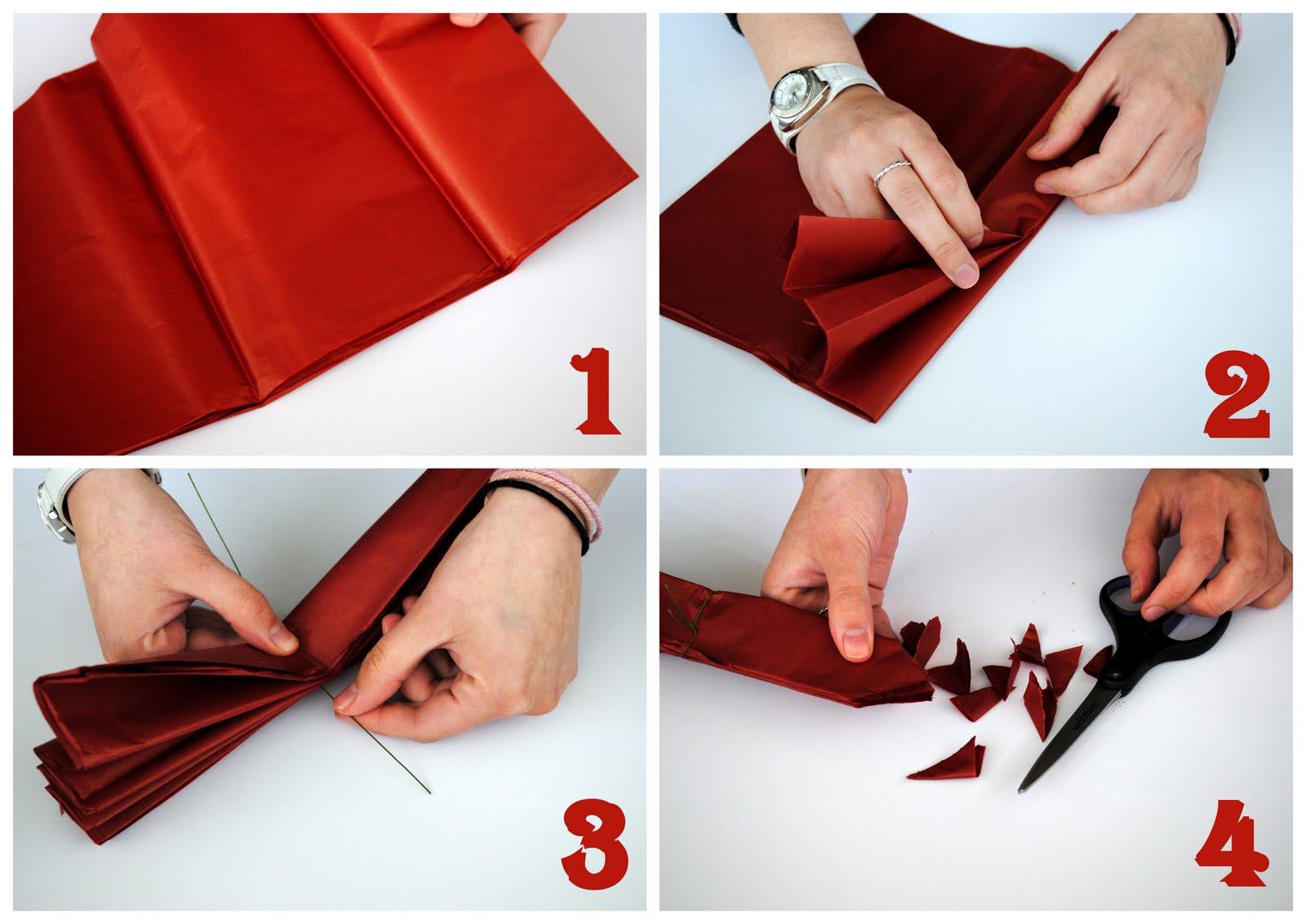 Помпоны из бумаги своими руками пошагово для начинающих