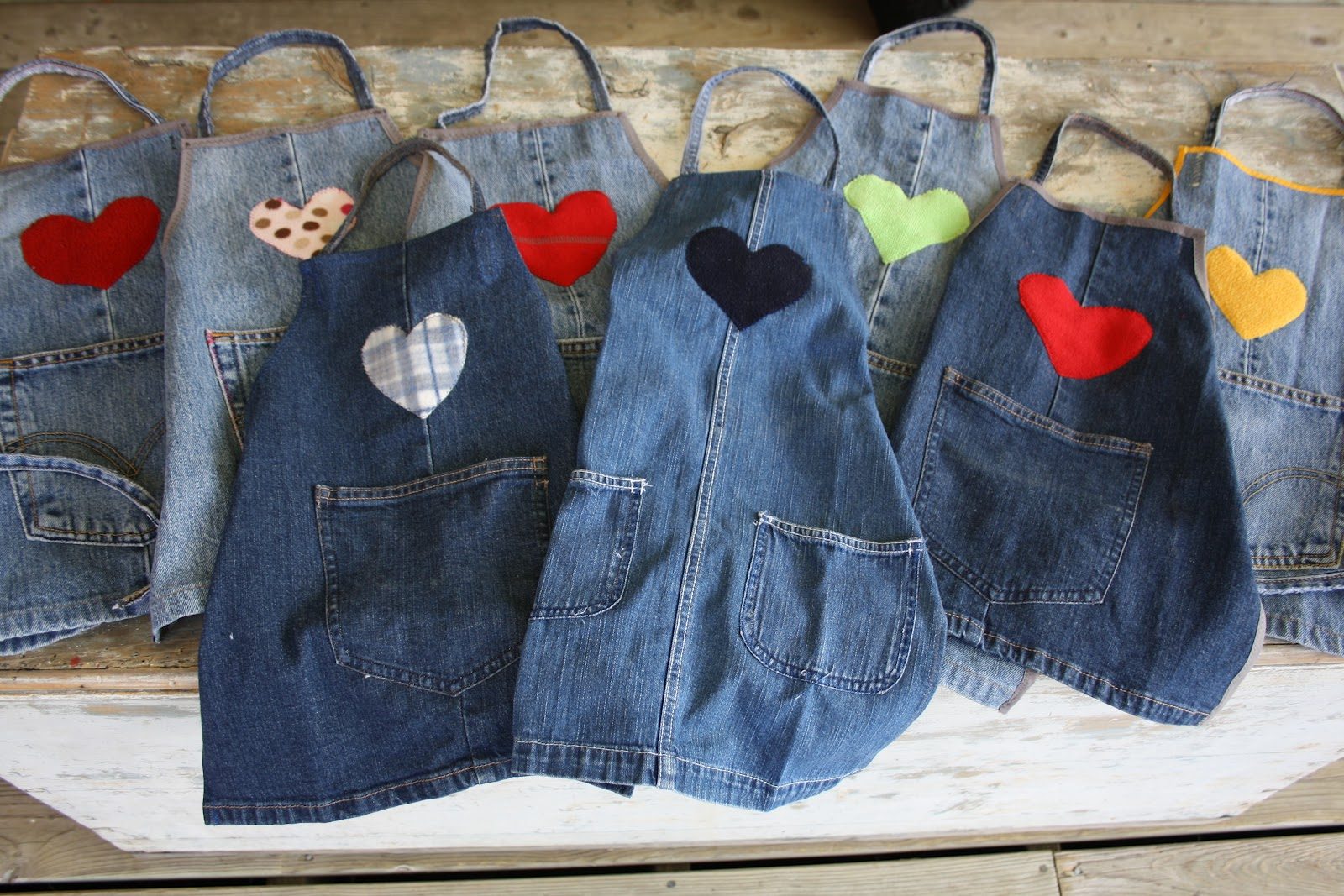 Kindred spirits sisters upcycling denim projects for Jeans upcycling ideas