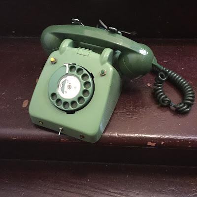 telefone, decoração vintage