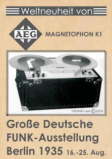 aeg magnetophon k1