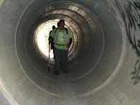 Creuant el túnel sota la carretera de Casserres