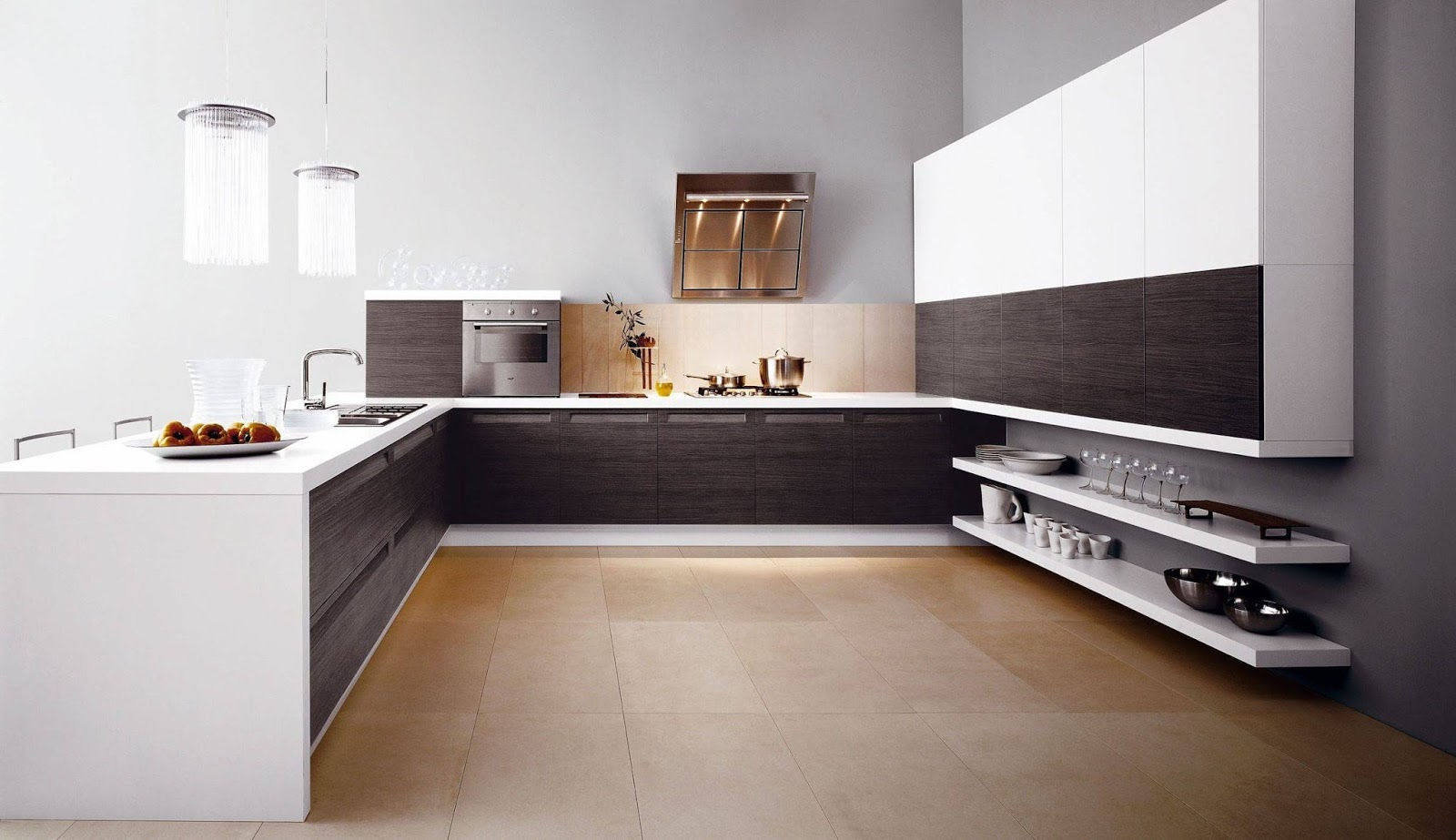 Modern Italian Kitchen Design Simple Modern Kitchen Design With Italian Themes  Home Decors  Homedecors