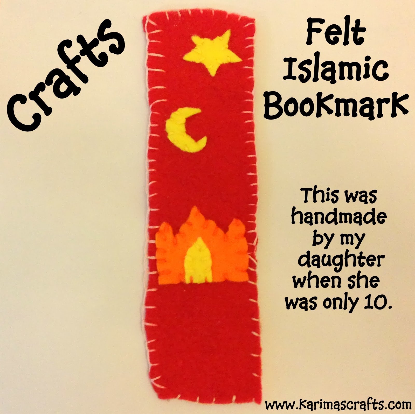 islamic bookmark ramadan crafts muslim felt printable