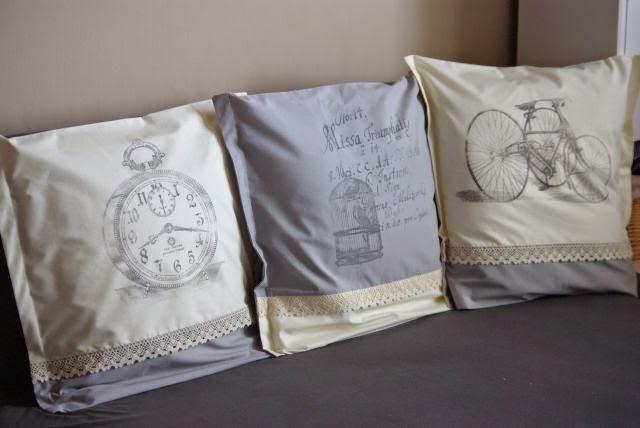 poszewki shabby, grafika na poduszkach