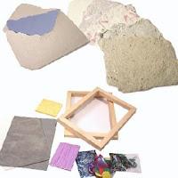 Utensilios para hacer papel reciclado casero