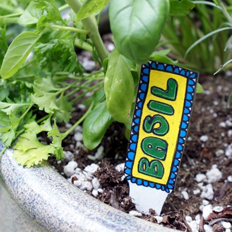 DIY Herb Markers Or Garden Stakes For Summer Fun Gardening