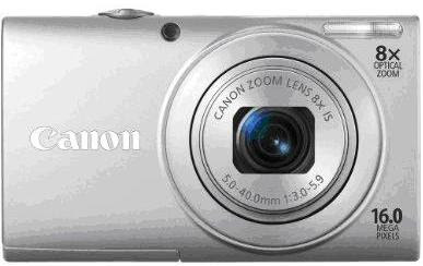 Canon PowerShot A4000IS in silver
