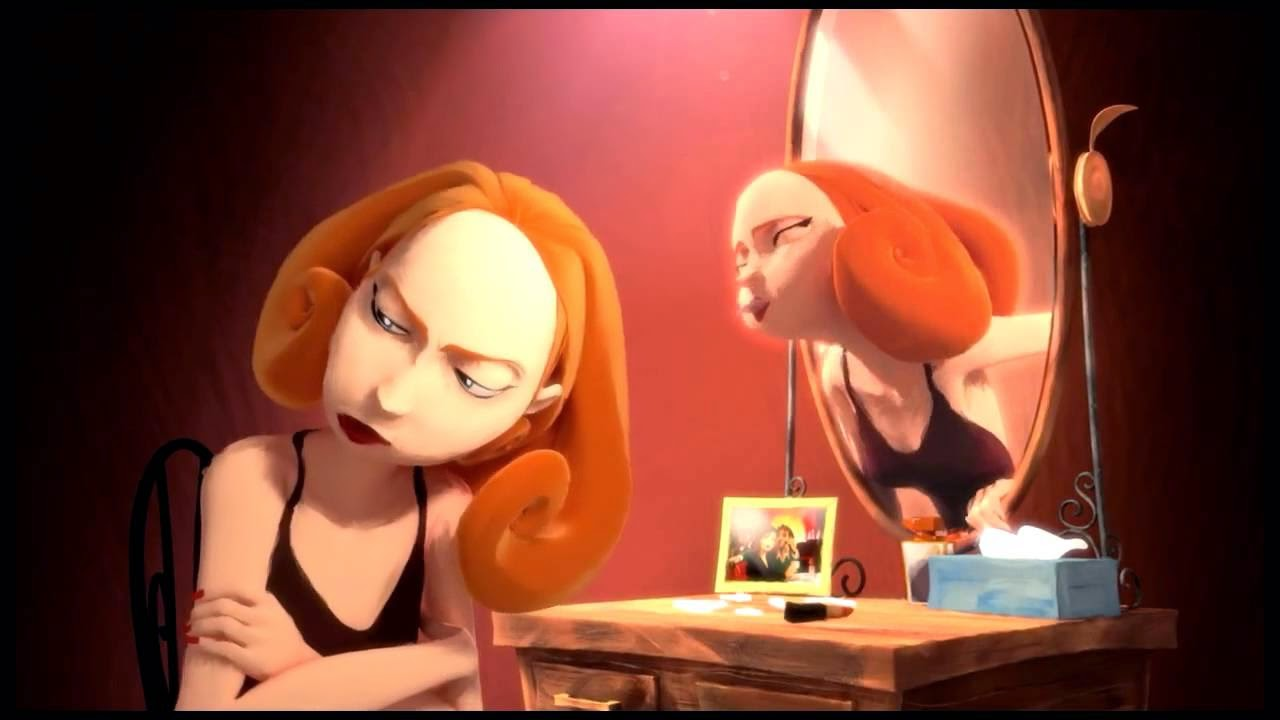 la mujer en el espejo en fotos: