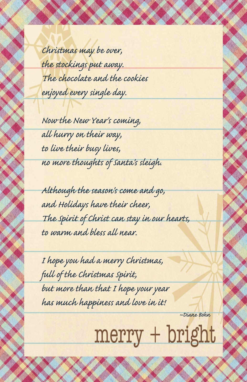from blank pages: An after Christmas Christmas Poem