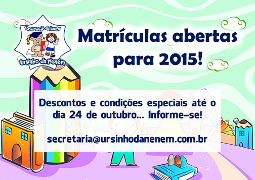 Matrículas abertas para 2015