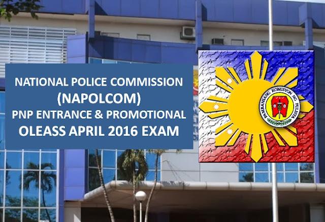 NAPOLCOM activates OLEASS April 2016 exam