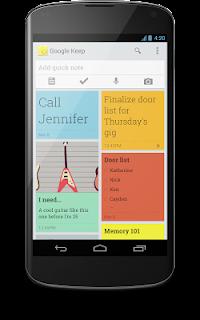 Ansicht Google Keep auf einem Android-Handy.