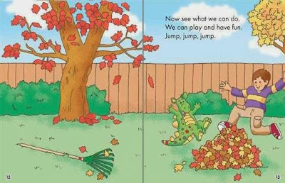 sample pages from It's Fall, Dear Dragon by Margaret Hillert