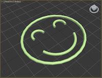 Varias splines renderizadas en el viewport.