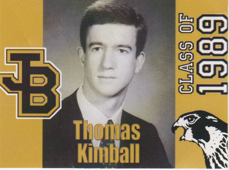 #WA8UNS #ThomasQuickKimball Joel Barlow High School Redding, CT Class of 1989