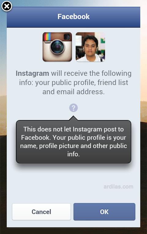 Sentuh tombol Ok - Bagaimana Cara Mendaftar/Membuat Akun Di Instagram