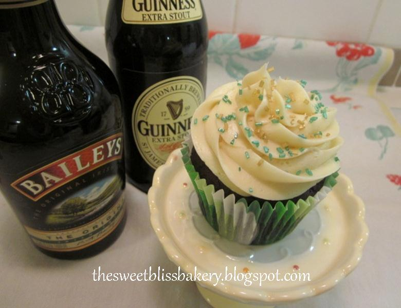 Guinness cupcakes with chocolate ganache and Bailey's Irish Cream ...