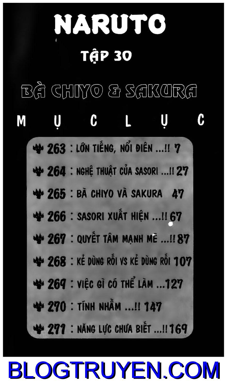 Naruto chap 263 Trang 1 - Mangak.info