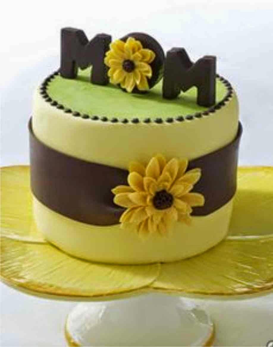 Торт с мастикой маме на день рождения своими руками
