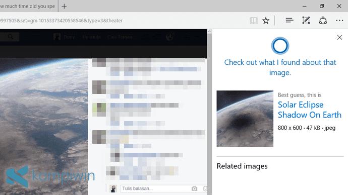 Mencari Gambar Serupa (Beserta Infonya) yang Muncul di Web dengan Cortana di Microsoft Edge 1