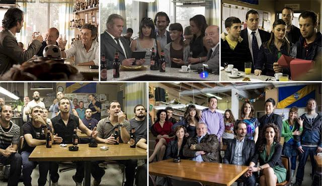 Cafetería del equipo la Unión en la serie de TVE Pelotas