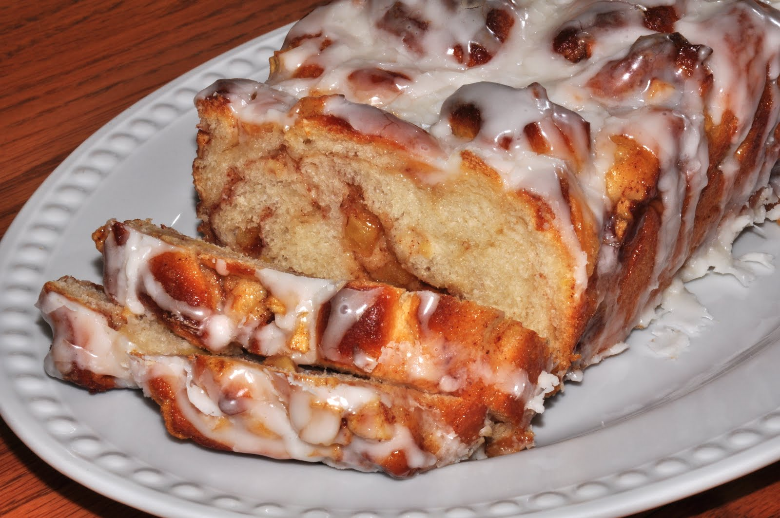 The Changeable Table: Apple Fritter Bread