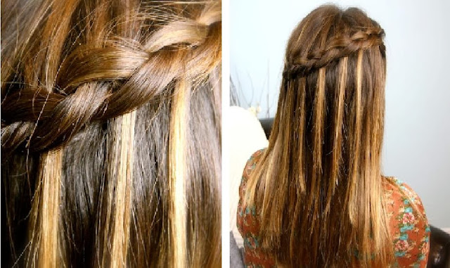 Waterfall Hair Braid