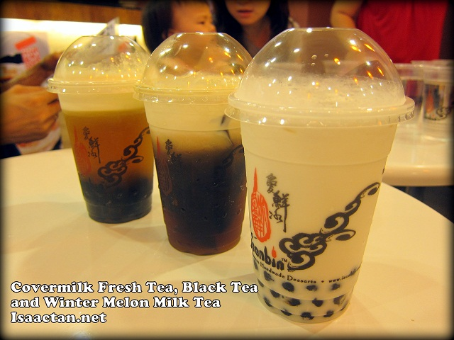 Covermilk Fresh Tea, Black Tea, and Winter Melon Milk Tea