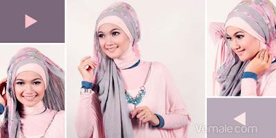 Cara Memakai Jilbab Pashmina Modern