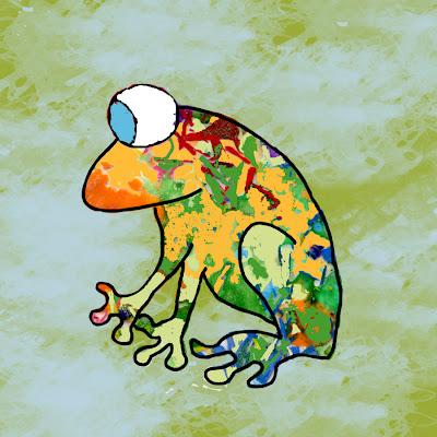 Funky Frog Illustration
