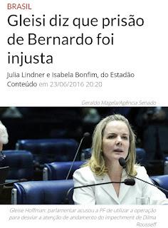 SENADORA SAI EM DEFESA DO MARIDO PRESO