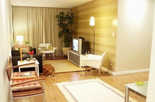 Meu mini ap cores claras para salas pequenas for Muebles sala para apartamentos pequenos