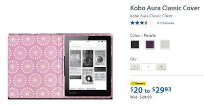 RetaileMeNot.ca Walmart Kobo Aura Cover #RMNchallenge