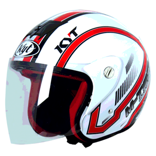 helm kyt M-Tech Simetri - White / Red (O.F)