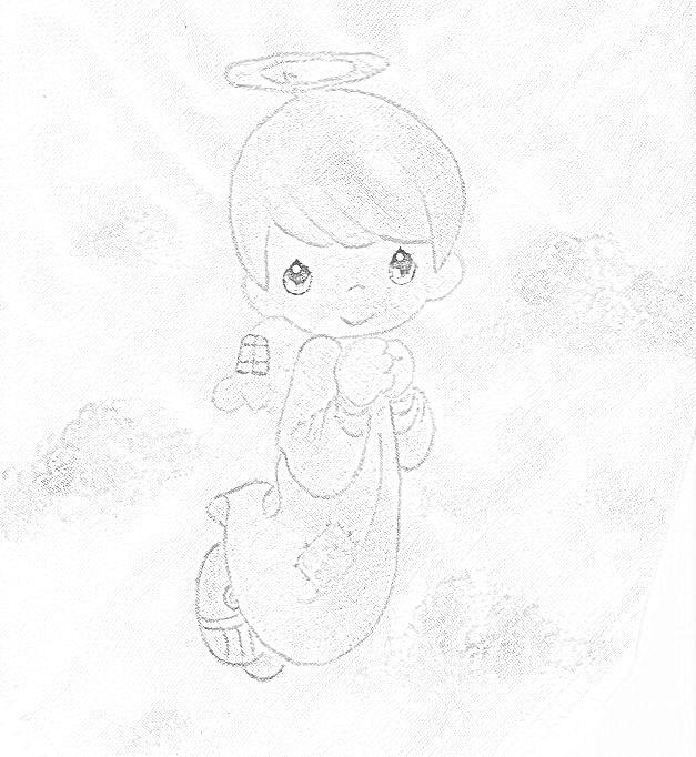 pintura em tecido infantil fralda risco anjinho