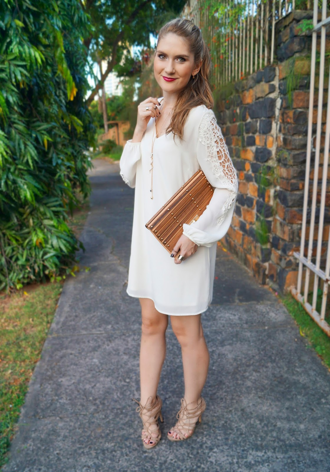 White Crochet dress from Charlotte Russe