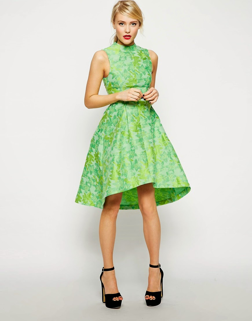 green floral dress asos