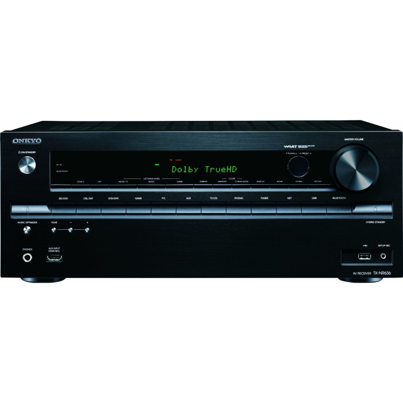 Onkyo TX NR828B Factory Refurbished 7 2 Channel Network A V Receiver