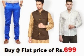 Myntra: Buy HAUTE COUTURE Sale: Nehru JACKET, TROUSER and SHIRTS at Rs.699