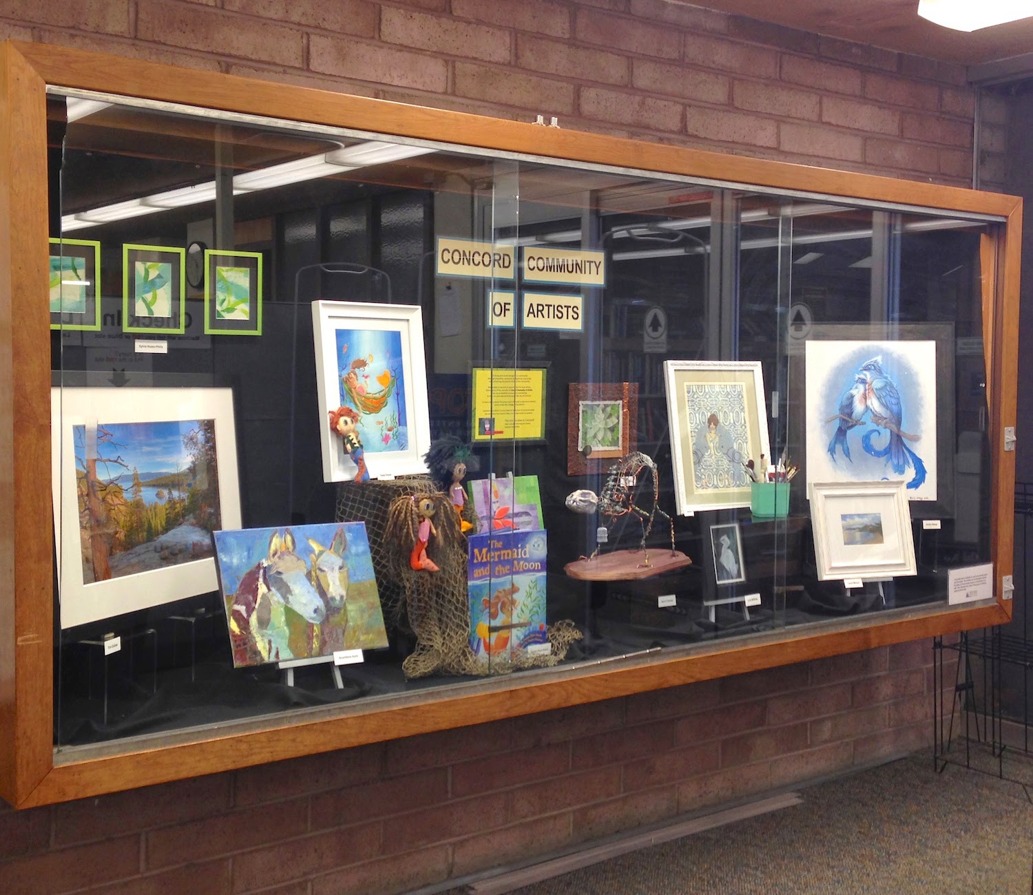 art display at Concord Library