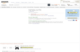 amazon france final fantasy ps4 screen capture Rumor   Final Fantasy Coming To The PlayStation 4?