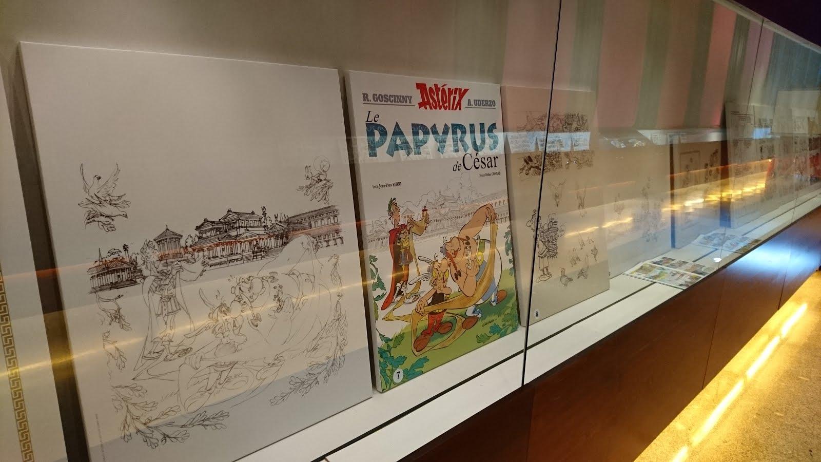 Exposición 'Astérix, imágenes del álbum 36, El Papiro del César' en #fls16