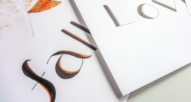 DIY Handlettering Idee