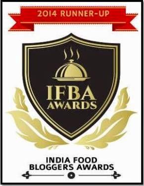 India Food Blogger Awards 2014 Winner!