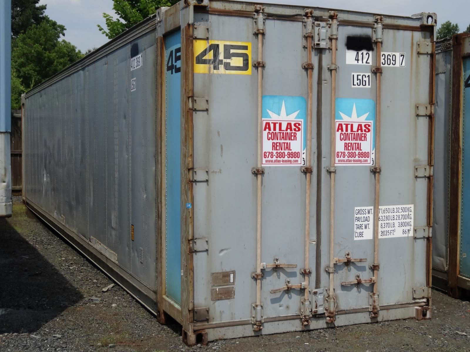 Atlanta Aluminum Storage Containers Extra Large 45 Atlanta Used