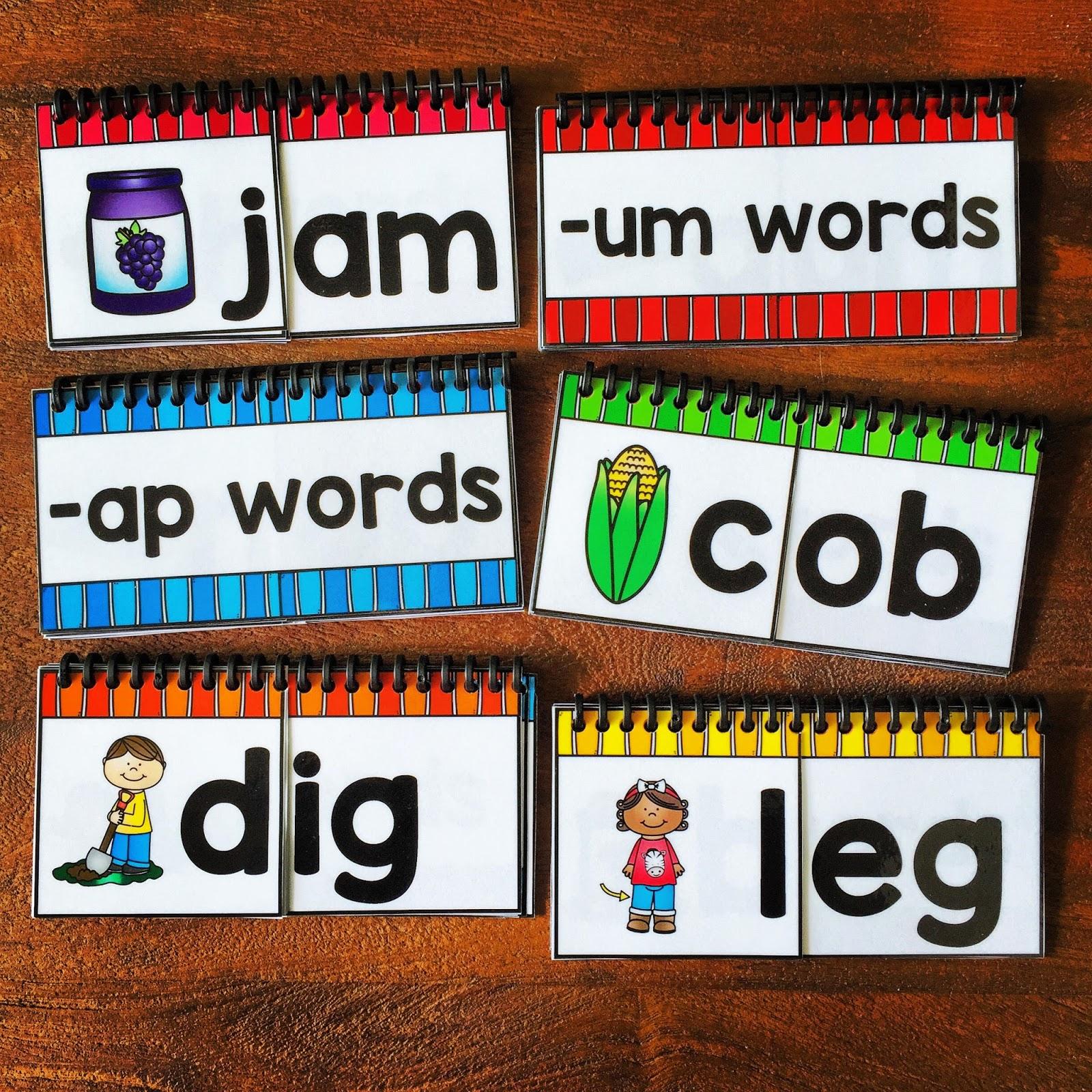 Cvc Word Family Flip Books The Therapeutic Teacher