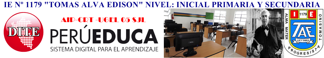 INSTITUCIÓN EDUCATIVA TOMAS ALVA EDISON