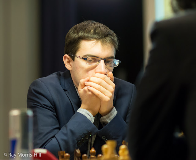 Maxime Vachier-Lagrave en el London Chess Classic 2015