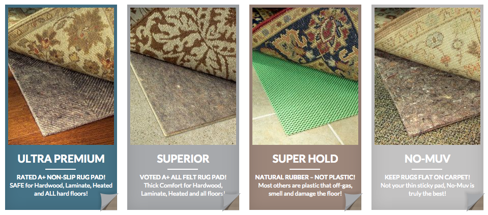 No muv rug on carpet pad reviews carpet vidalondon for Types of carpets for home